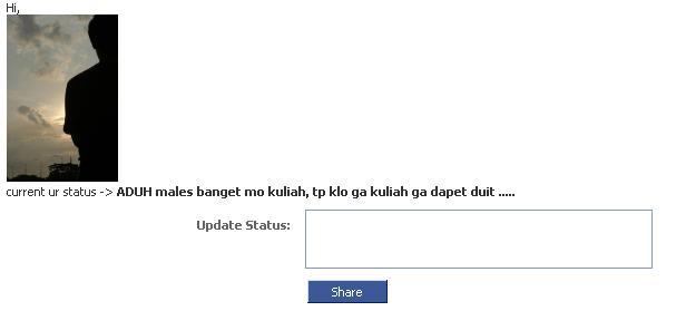 UPDATE Status FB dari Telepon Umum